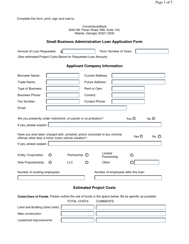 Types Of Business Form