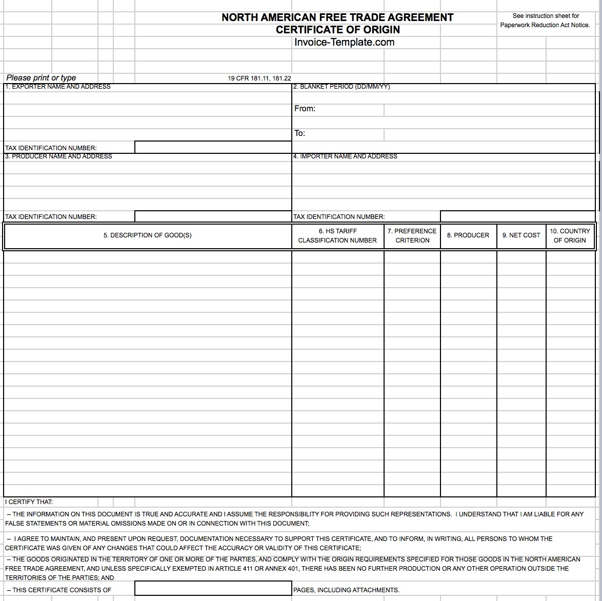 Work Invoice Template