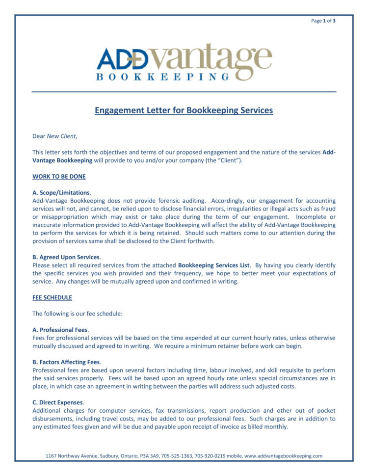 10  Bookkeeper Confidentiality Agreement Examples   Doc, Pdf Within Bookkeeping Contract Template
