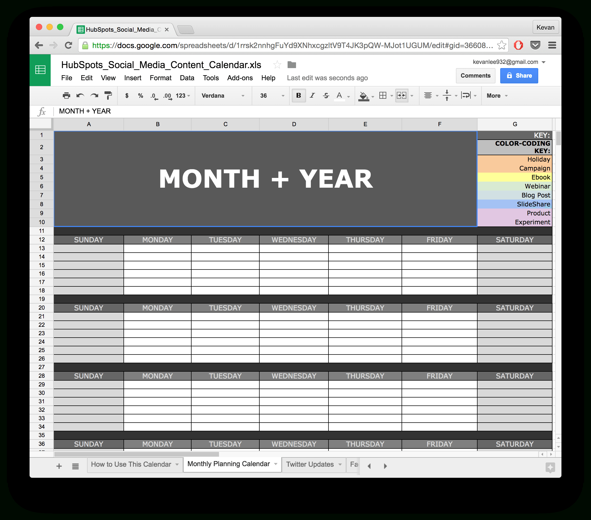 10 Ready To Go Marketing Spreadsheets To Boost Your Productivity Today With Marketing Calendar Template Google Docs