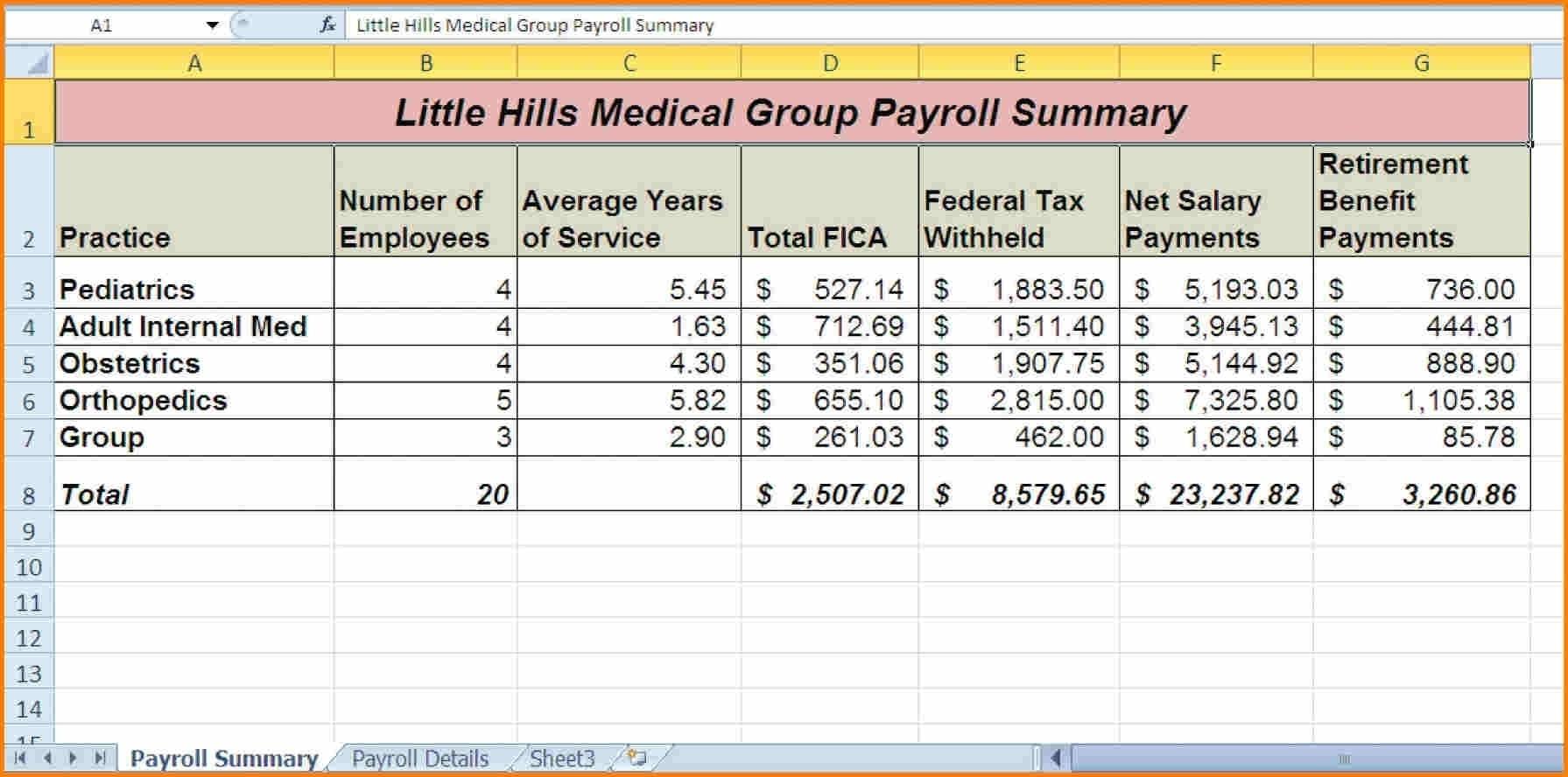 10 Sample Excel Payroll Spreadsheet | Balance Spreadsheet Throughout To Payroll Spreadsheet Template Free