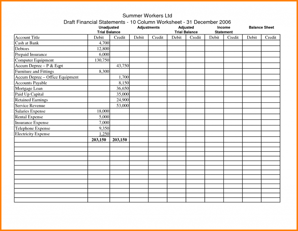 11  Bookkeeping Sheets Printable | Cook Resume And Accounting Ledger Book Template Free