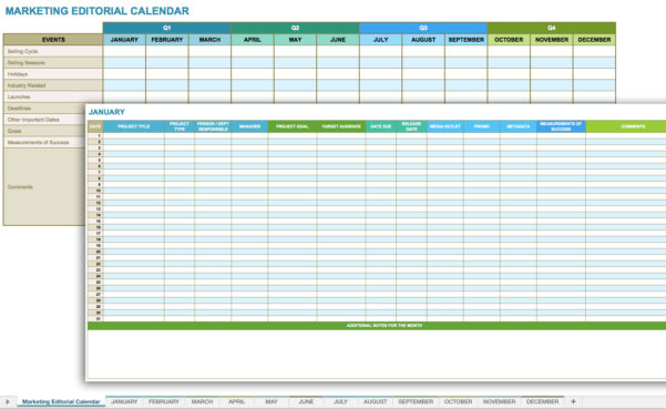 12 Free Social Media Templates   Smartsheet In Marketing Campaign Calendar Template Excel
