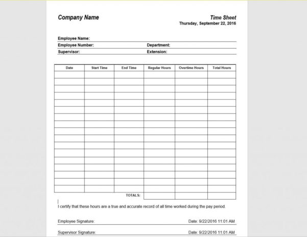12 Timesheet Template Examples | Templates Assistant Throughout Payroll Sign In Sheet Template