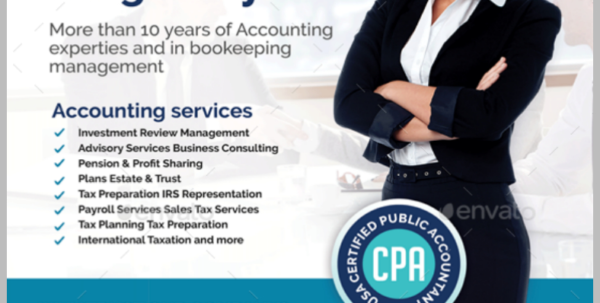 13  Accounting And Bookkeeping Service Flyer Designs & Templates To Bookkeeping Flyer Template