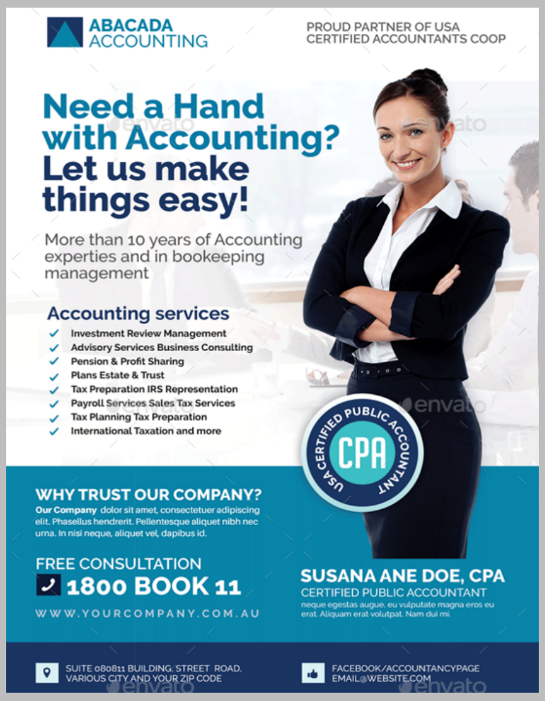 13  Accounting And Bookkeeping Service Flyer Designs & Templates Within Bookkeeping Flyer Template Free
