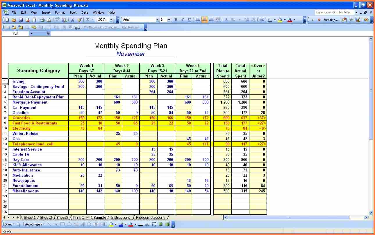 14  Personal Budget Worksheet | Budget Planner Throughout Personal Budget Worksheet Excel