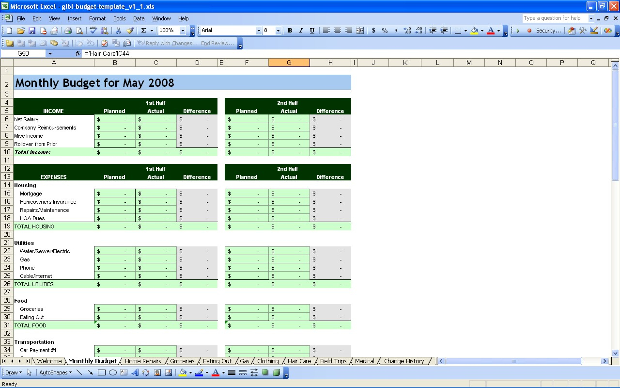 15 Free Personal Budget Spreadsheet – Page 2 – Excel Spreadsheet To Personal Budget Worksheet Excel