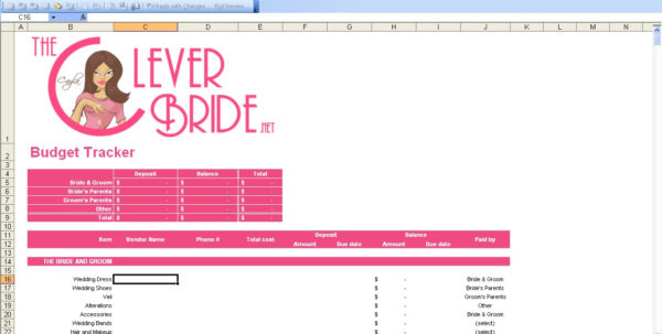 15 Useful Wedding Spreadsheets – Excel Spreadsheet Intended For Wedding Spreadsheet Template
