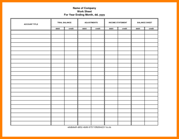 18  Accounting Worksheet Templates | World Wide Herald Within Accounting Worksheet