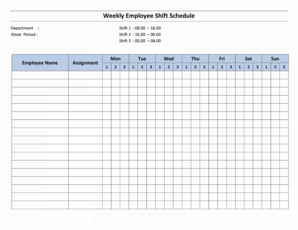20  Awesome Monthly Work Schedule Template Excel   Lancerules Within Monthly Staff Schedule Template Excel