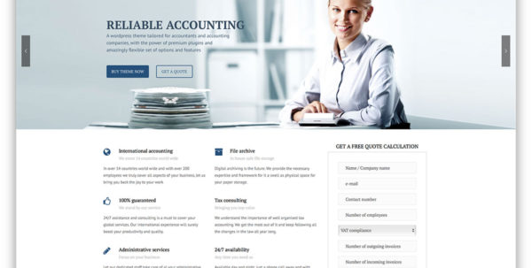 20 Best Financial Company Wordpress Themes 2018   Colorlib With Bookkeeping Website Templates