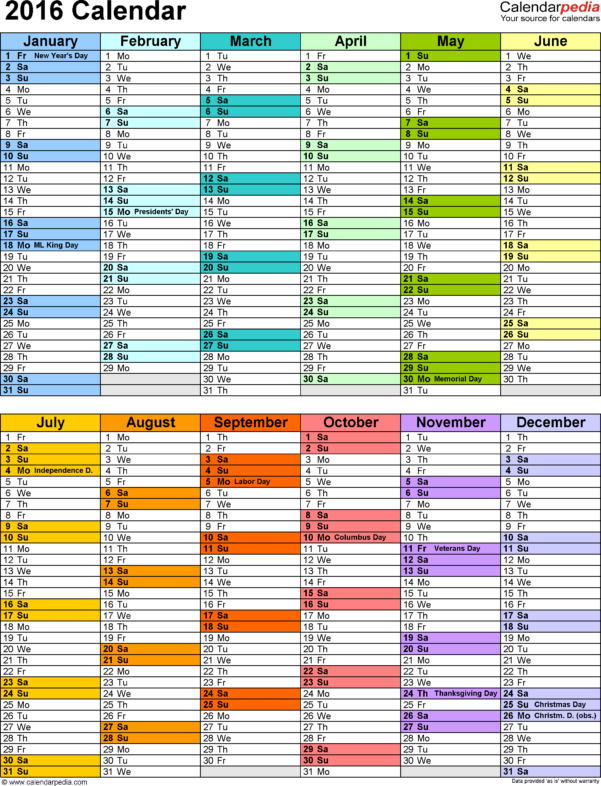 2016 Calendar   Download 16 Free Printable Excel Templates (.xlsx) Intended For Marketing Calendar Template Free