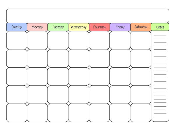 2016 Printable Calendars Cute Blank Calendar Templates Sight Word Throughout Blank Worksheet Templates