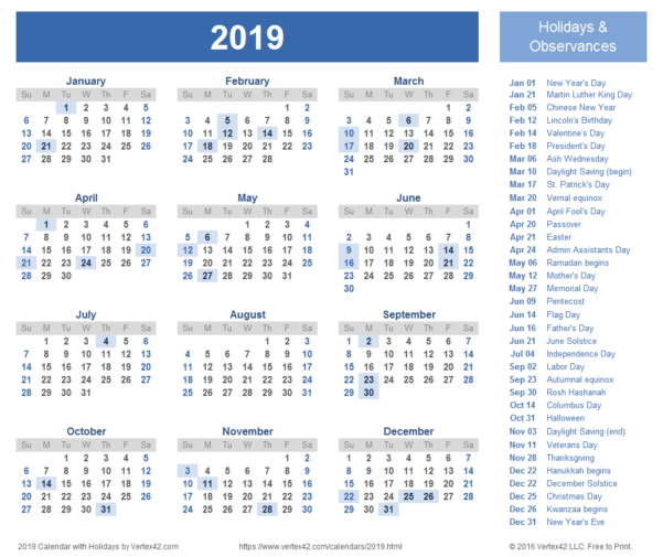 2019 Calendar Templates And Images Intended For Gantt Chart Template Pro Vertex42 Download