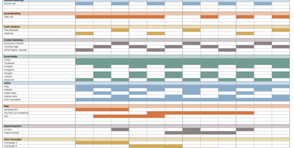 21 Free Event Planning Templates | Smartsheet With Timeline Spreadsheet Template
