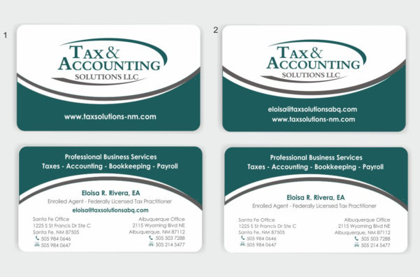 26 Modern Business Card Designs | Accounting Business Card Design For Bookkeeping Business Cards Templates Free