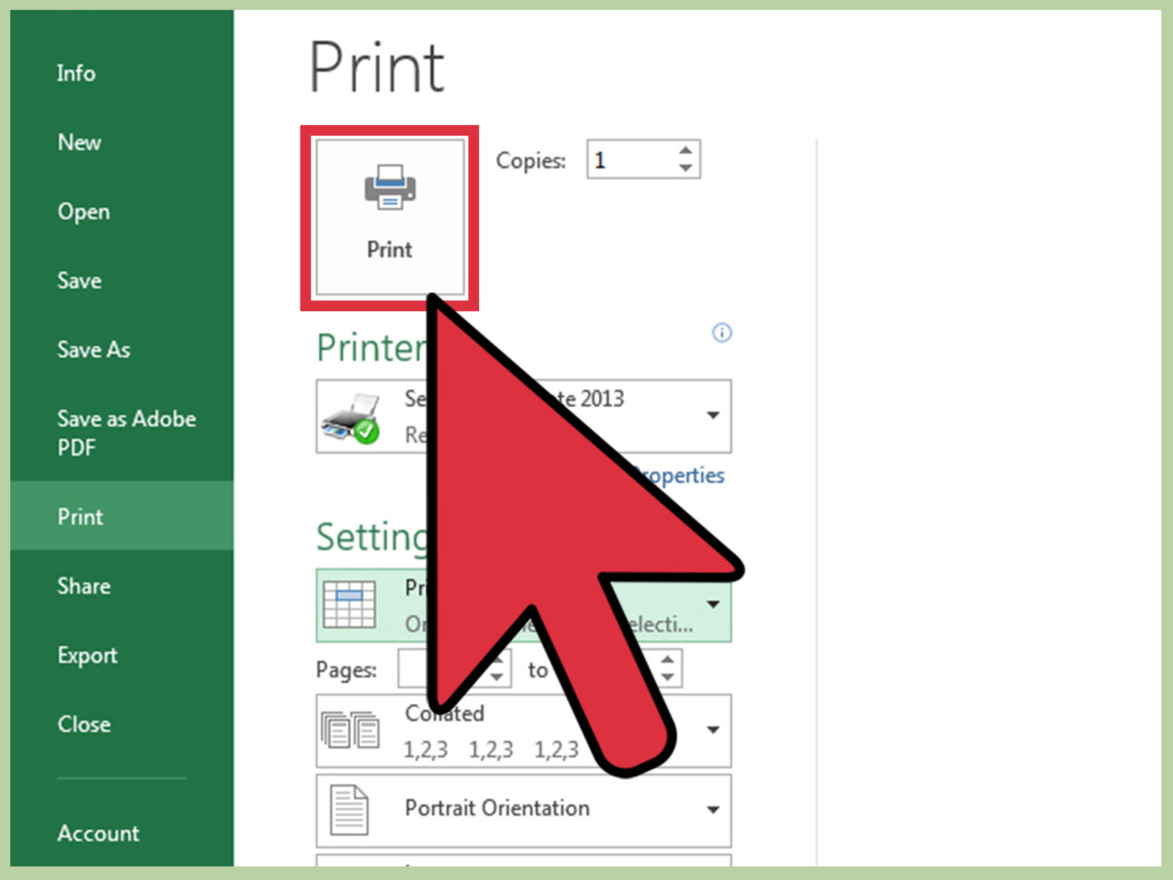 3 Ways To Print Part Of An Excel Spreadsheet   Wikihow Intended For How To Create A Spreadsheet In Excel 2013