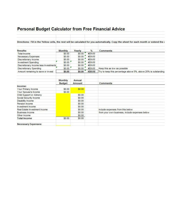 30  Budget Templates & Budget Worksheets (Excel, Pdf)   Template Lab With Home Financial Spreadsheet Templates