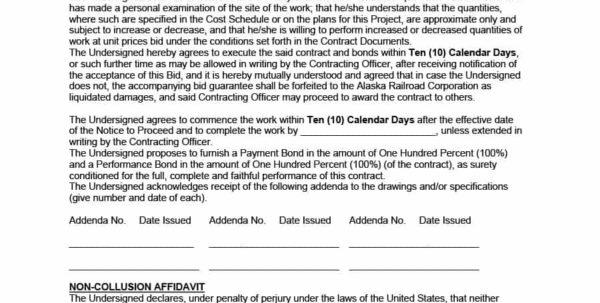 31 Construction Proposal Template & Construction Bid Forms To Construction Bid Form Free