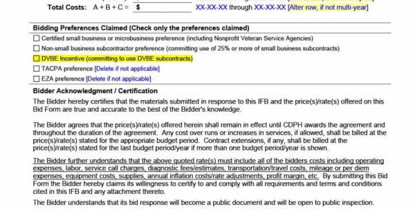 31 Construction Proposal Template & Construction Bid Forms Within Construction Bid Form Free