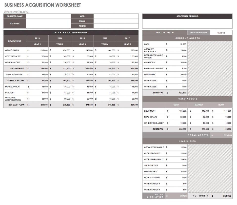 32 Free Excel Spreadsheet Templates | Smartsheet Inside Business Spreadsheet Template