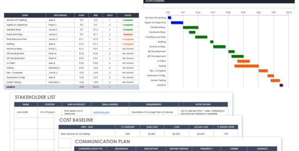 32 Free Excel Spreadsheet Templates | Smartsheet To Customer Relationship Management Excel Template