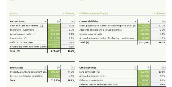 38 Free Balance Sheet Templates & Examples   Template Lab And Personal Balance Sheet Template