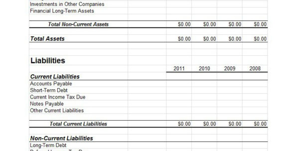 38 Free Balance Sheet Templates & Examples   Template Lab To Personal Financial Balance Sheet Template