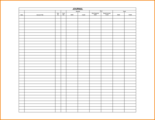 4 General Journal Template | Receipt Templates For Accounting To Accounting Journal Template