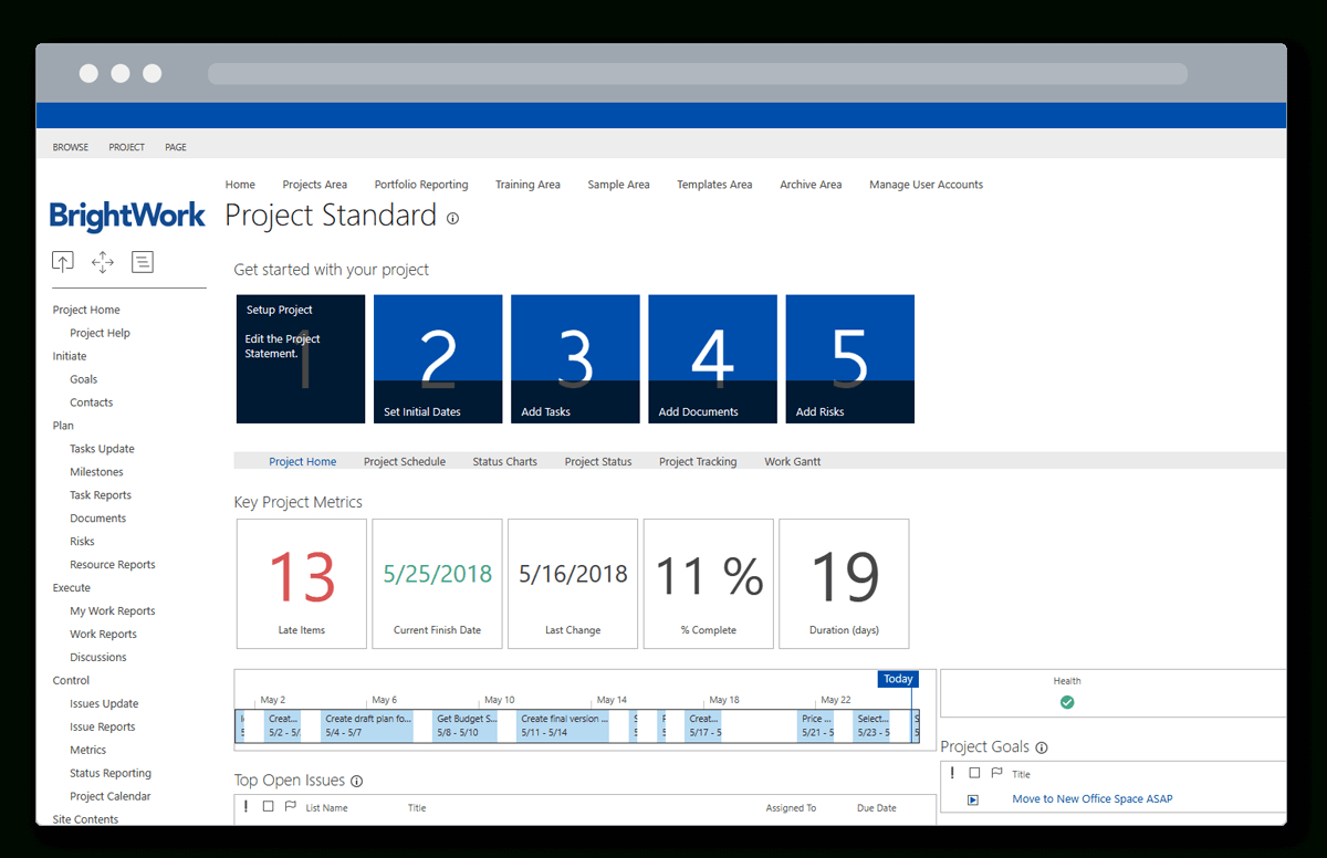 4 Quick Steps To Set Up Sharepoint For Project Management And Project Management Website Templates Project Management Website Templates Example of Spreadshee Example of Spreadshee project management web templates