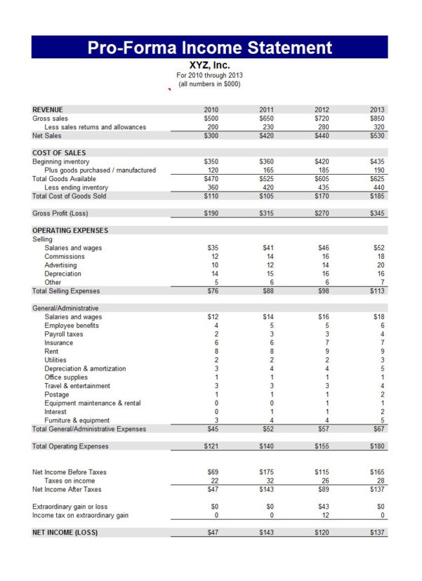 41 Free Income Statement Templates & Examples   Template Lab Throughout Income Statement Template Free