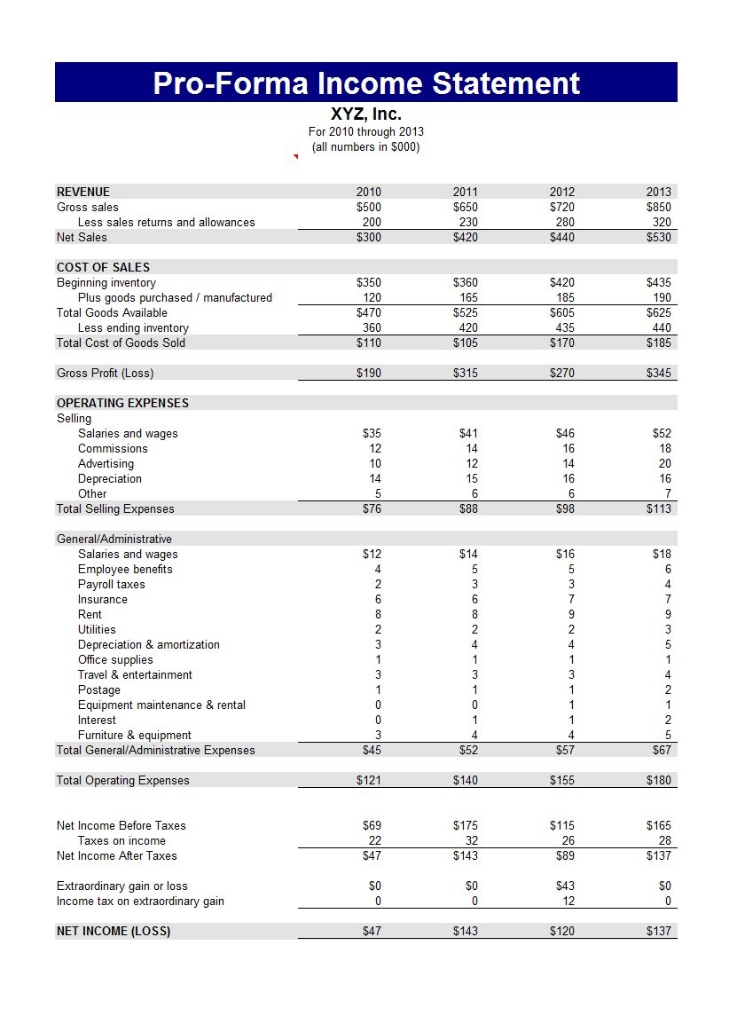 41 Free Income Statement Templates & Examples - Template Lab Throughout Income Statement Template Free