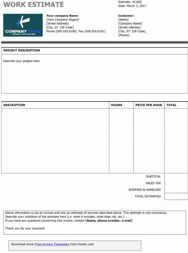 44 Free Estimate Template Forms [Construction, Repair, Cleaning] In Construction Estimating Template Free