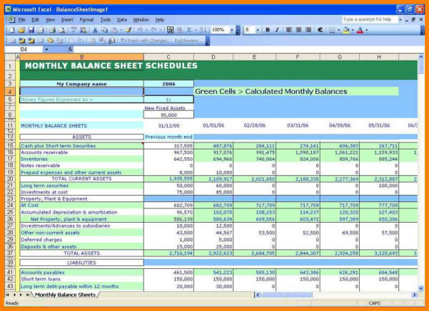 5  Balance Sheet Template Excel Free Download | Credit Letter Sample And Balance Sheet Template Excel