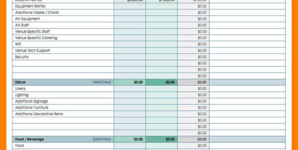 5  Event Plan Template Excel | Business Opportunity Program In Event Budget Spreadsheet Template