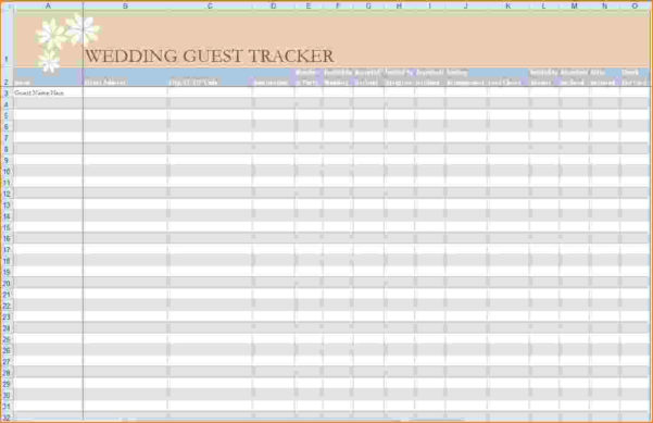 5  Wedding Guest List Excel | Teknoswitch For Wedding Guest List Spreadsheet Template