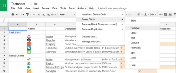 50 Google Sheets Add Ons To Supercharge Your Spreadsheets   The With Project Management Spreadsheet Template Google Docs