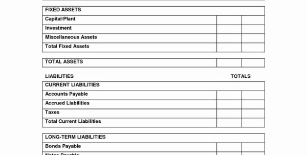 50 Luxury Blank Personal Balance Sheet   Document Ideas   Document Ideas And Blank Trial Balance Sheet