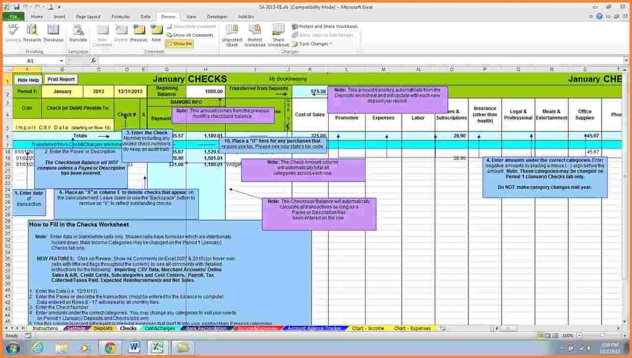 6 Accounting Spreadsheet For Small Business | Excel Spreadsheets Intended For Monthly Bookkeeping Spreadsheet