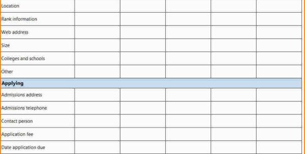 6  College Comparison Spreadsheet | Hospedagemdesites165 To Comparison Spreadsheet Template