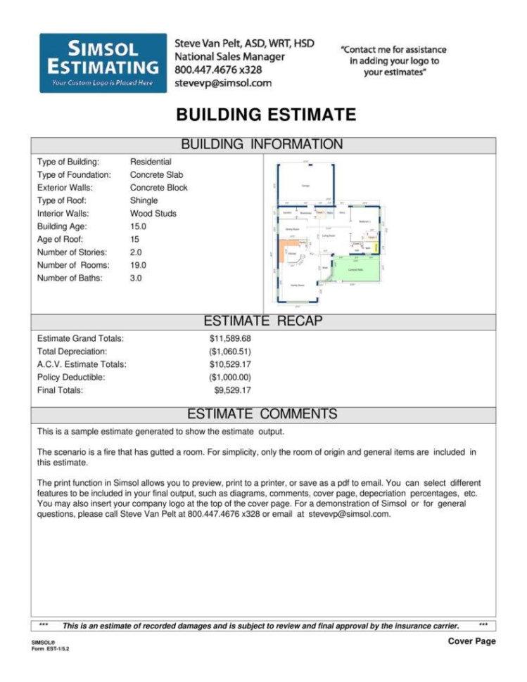 6  Free Construction Estimate Templates   Pdf | Free & Premium Templates In Free Construction Estimate Template Pdf
