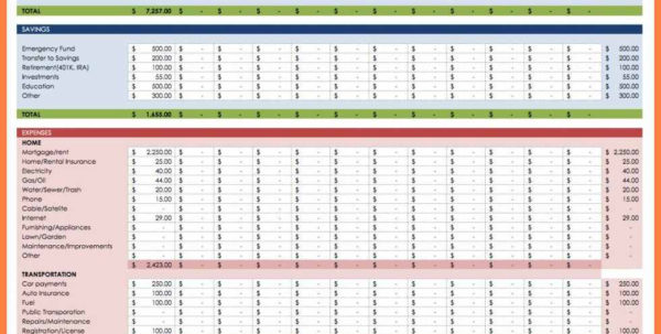 6  Free Monthly Budget Spreadsheet | Andrew Gunsberg Intended For Free Monthly Budget Spreadsheet Template Free Monthly Budget Spreadsheet Template Excel Spreadsheet Templates