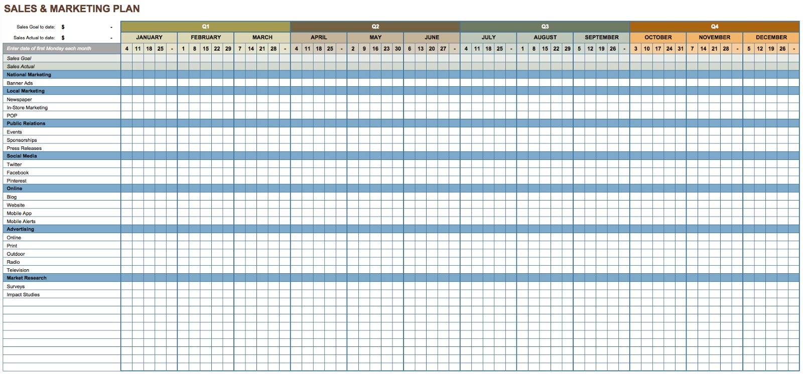 7 Advanced Excel Hacks That Every Seo Ought To Use With Marketing Spreadsheet Template