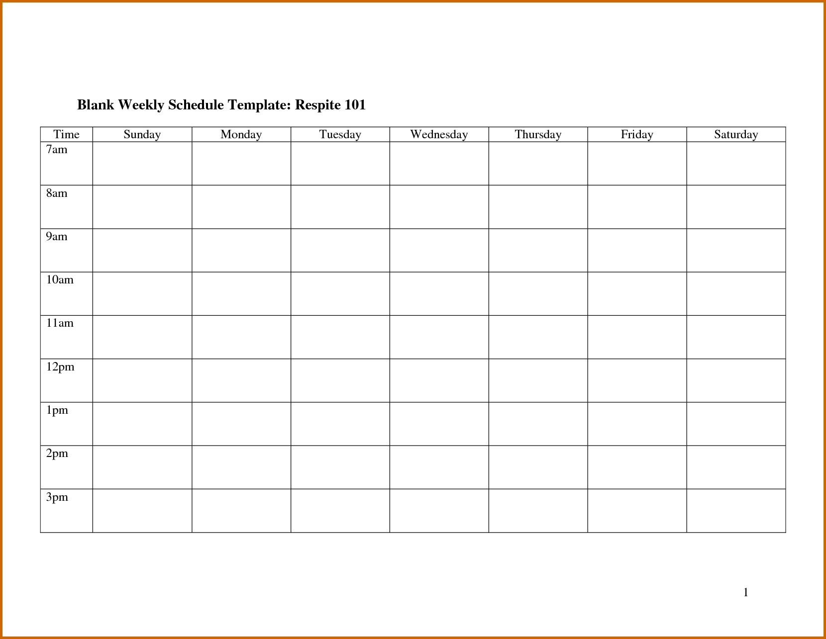 7  Blank Monthly Employee Schedule Template | Lease Template And Monthly Staff Schedule Template Free