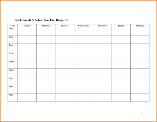 7  Blank Monthly Employee Schedule Template | Lease Template With Monthly Employee Schedule Template Free