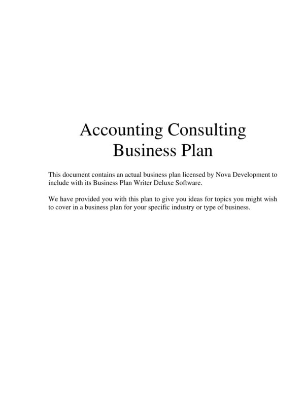 7  Bookkeeping Business Plan Examples   Pdf With Bookkeeping Business Plan Example