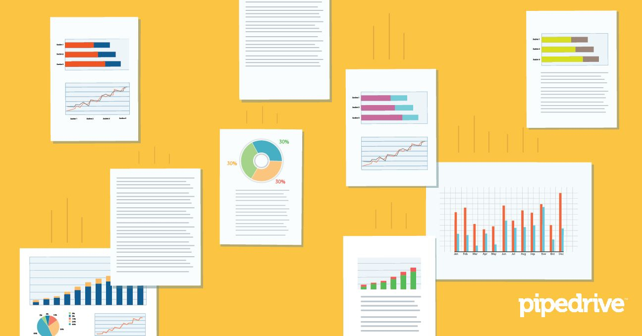 7 Free Sales Dashboards And Templates For Your Team | Pipedrive For Sales Projection Chart Template