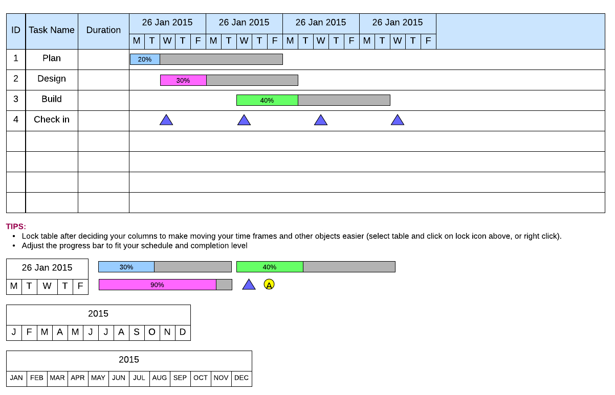 7 Gantt Chart Alternatives To Build In Lucidchart | Lucidchart Blog Within High Level Gantt Chart Template