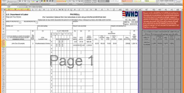 7  Payroll Excel Template Free   Technician Salary Slip Within Payroll Spreadsheet Template Free